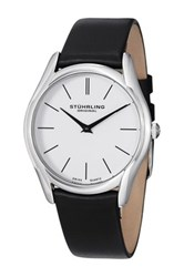 Stuhrling Men's Ascot Classic Swiss Slim Watch Black