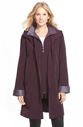 Gallery Two Tone Silk Look Raincoat Regular And Petite Blackberry Ice Plum
