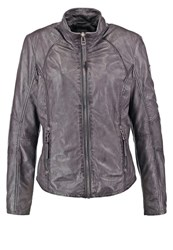 Gipsy Elya Lontv Leather Jacket Antracite Anthracite