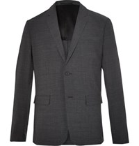 Theory Clinton Charcoal Slim Fit Stretch Wool Blend Suit Jacket