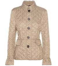 Burberry Clovelly Quilted Jacket Beige