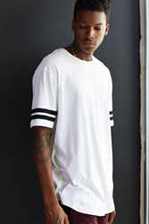 The Narrows Athletic Curved Hem Long Tee White