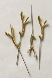 Anthropologie Branch And Twig Cocktail Picks Gold