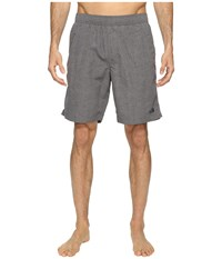 The North Face Class V Pull On Trunk Long Zinc Grey Linen Print Men's Swimwear Gray