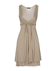 Jei O O' Knee Length Dresses Light Grey