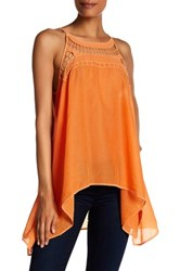 Johnny Was Draped Hi Lo Hem Tunic Orange