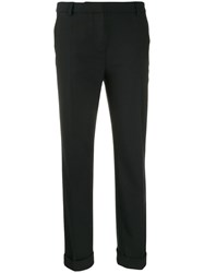 Boutique Moschino Sharp Suit Trousers Black