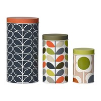 Orla Kiely Assorted Storage Tins Set Of 3 Floral