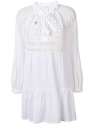 Anjuna Nicoletta Lace Embroidered Dress White