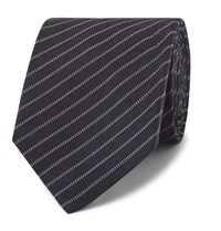 Berluti 6.5Cm Striped Wool And Silk Blend Tie Blue