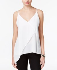 Bar Iii Asymmetrical V Back Top Only At Macy's Washed White