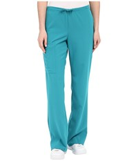 Jockey Front Drawstring Pants Teal Women's Casual Pants Blue