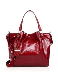 Tod's Flower Mini Coated Canvas Tote Red