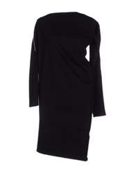 Paolo Errico Knee Length Dresses Black