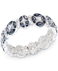 Charter Club Silver Tone Crystal Bangle Bracelet Only At Macy's
