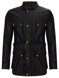 Belstaff The Roadmaster Waxed Cotton Biker Jacket Black