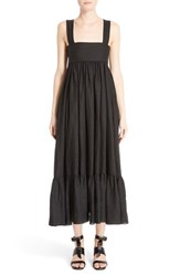 Chloe Women's Tie Back Linen Maxi Dress