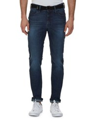 Nautica Slim Fit Tapered Faded Jeans Blue