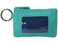 Vera Bradley Zip Id Case Turquoise Sea Wallet Blue