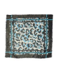 Just Cavalli Square Scarves Turquoise