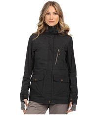Roxy Tribe Snow Jacket Anthracite Women's Coat Pewter