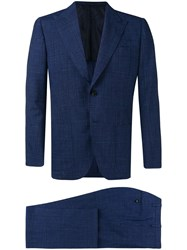 Kiton Two Piece Formal Suit Blue