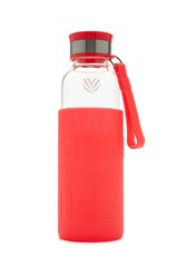 Forever 21 Active Graphic Glass Water Bottle Pink