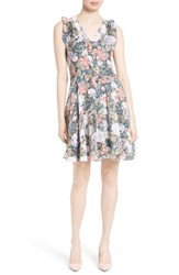 Rebecca Taylor Women's Penelope Floral Fit And Flare Silk Dress