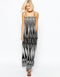 Vero Moda Aztec Maxi Dress Blackandwhite