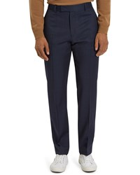 Jaeger Windowpane Regular Trousers Navy