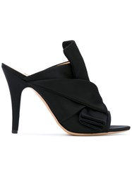 Gianluca Capannolo Heeled Mules Women Leather Satin 40 Black