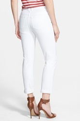 Halogen R Distressed Girlfriend Jeans Regular And Petite White