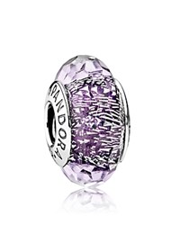 Pandora Design Charm Sterling Silver And Murano Glass Dark Purple Moments Collection