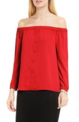 Vince Camuto Women's Off The Shoulder Blouse Dynamic Red