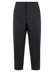 Oamc Savage Relaxed Fit Cotton Trousers Navy