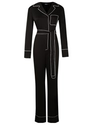Reinaldo Lourenco Long Sleeve Jumpsuit Black