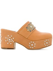 Laurence Dacade Studded Platform Mules Nude And Neutrals