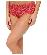 Hanky Panky Cross Dye Signature Lace Boyshort Red Lipgloss Women's Underwear