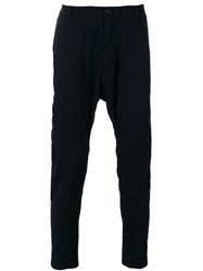 Helmut Lang Back Strap Drop Crotch Trousers Black