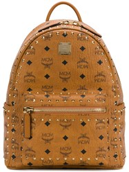 Mcm Small Stark Backpack Brown
