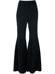 Stella Mccartney 'Chellini' Bell Bottom Trousers Black