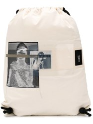Rick Owens Drkshdw Photographic Print Backpack White