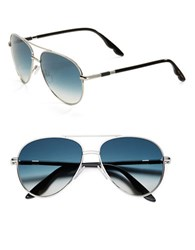 Brian Atwood 58Mm Aviator Sunglasses Silver