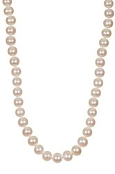 8 8.5Mm White Cultured Freshwater Pearl Necklace