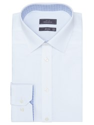 John Lewis Non Iron Satin Dobby Regular Fit Shirt White