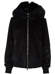 Just Cavalli Hooded Zipped Jacket Black