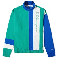 Champion Reverse Weave Colour Block Track Top Green