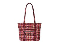 Vera Bradley Iconic Small Tote Houndstooth Tweed Tote Handbags Red
