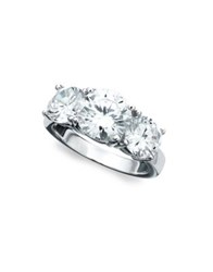 Crislu Classic Crystal Sterling Silver And Platinum Ring
