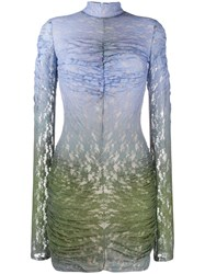 House Of Holland Lace Fitted Dress Blue